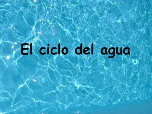 El ciclo del agua.