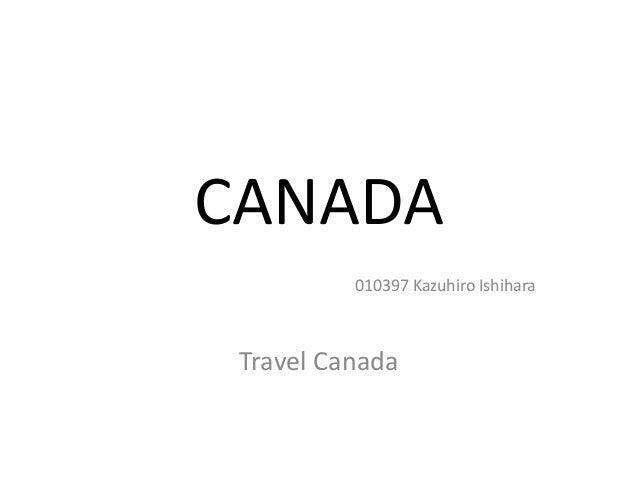 CANADA 010397 Kazuhiro Ishihara Travel Canada