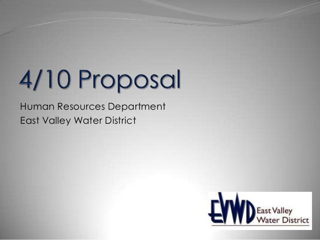 Human Resources Department East Valley Water District
