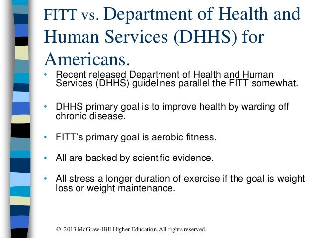 FITT vs. Department of Health and Human Services (DHHS) for Americans. • Recent released Department of Health and Human Se...