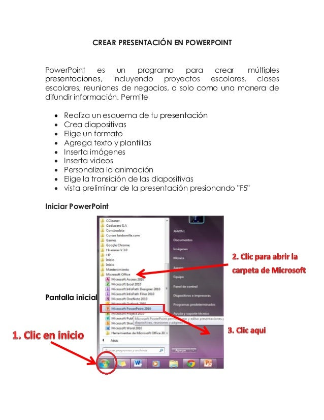 CREAR PRESENTACIÓN EN POWERPOINT PowerPoint es un programa para crear múltiples presentaciones, incluyendo proyectos escol...
