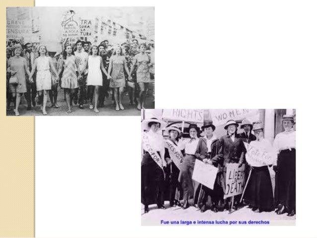 •  Años 1913 y 1914 - Día Internacional del Mujer antes de la Primera Guerra Mundia  En 1913, en el marco de los movimient...