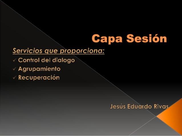 Capa Sesion y Presentacion
