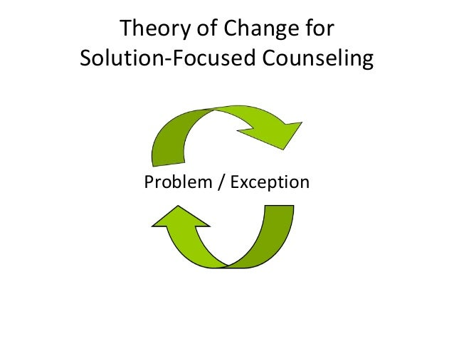 solution focused theory Many are stubborn in the pursuit of the path they have chosen, few in the pursuit of the goal - nietzche solution focused therapy (sft) is sometimes linked to general brief therapy, problem-focused therapy, and possibility therapy all share some common points of focus.