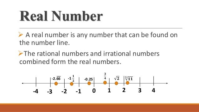 how to find real numbers