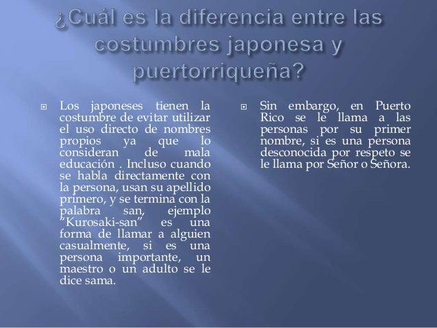 Cultura japonesa vs puertorrique - Como llamar a puerto rico ...
