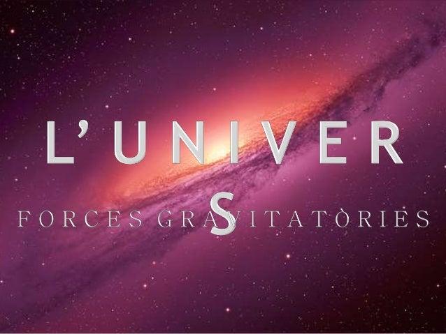 A continuació tractarem alguns dels components de l'univers, aquells que hem pogut observar al llarg dels segles.