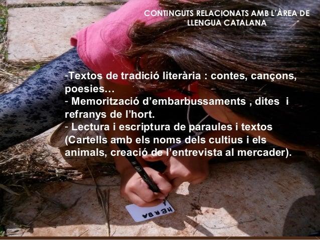 CONTINGUTS RELACIONATS AMB L'ÀREA DE LLENGUA CATALANA -Textos de tradició literària : contes, cançons, poesies… - Memoritz...