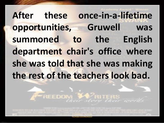 freedom writers diary book summary Freedom writers diary books as an idealistic english teacher at wilson high school in long beach, california, erin gruwell confronted a room of unteachable, at-risk.