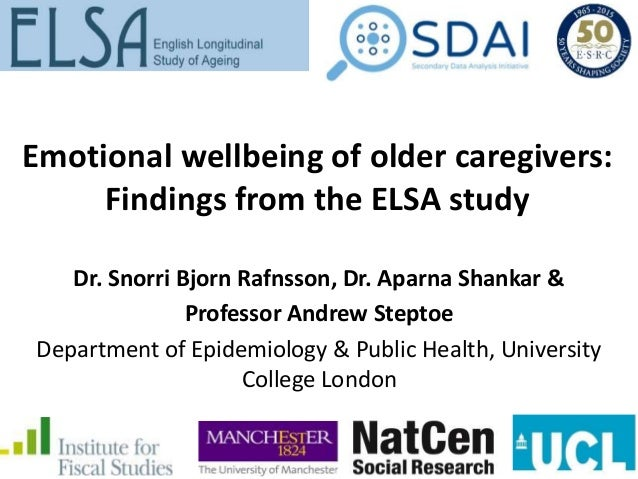 Background • Almost 1.2 million people aged 65 or older in England provided informal care in 2011; Approximately 56% of ol...