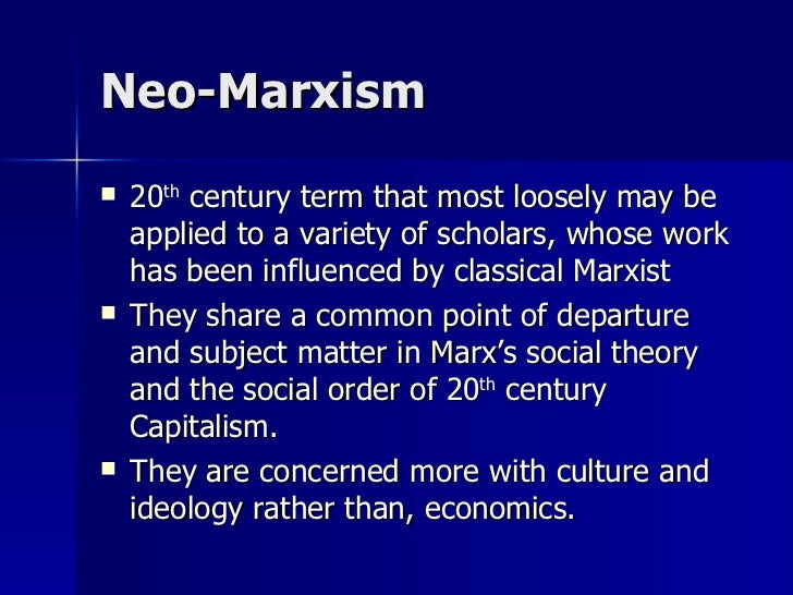 neo marxist perspective on education