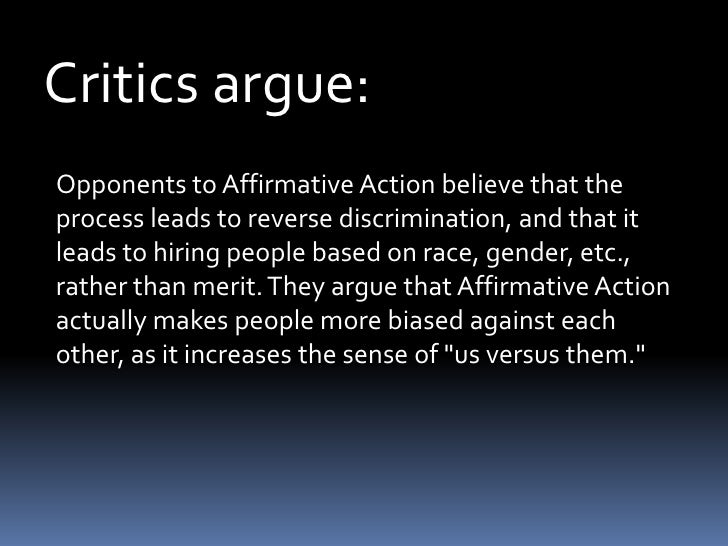 different views on affirmative action California needs to look again at asian stance on affirmative action   beyond the views of activists,.