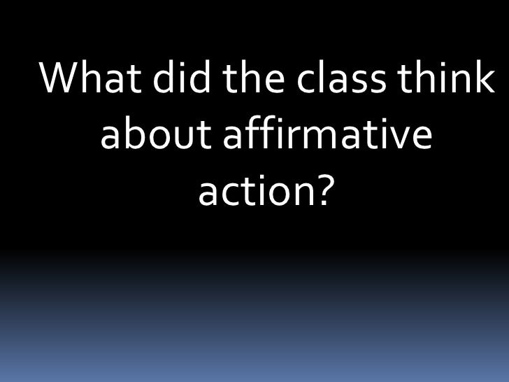 accounts of affirmative action The real issues with the affirmative action program have nothing to do with the perceived issues the doj are investigating overall, affirmative action in higher education (the sole focus of this.