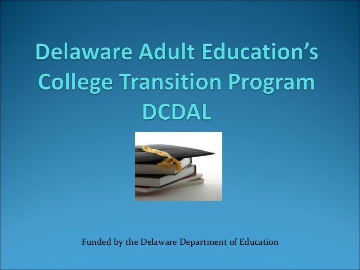 Funded by the Delaware Department of Education