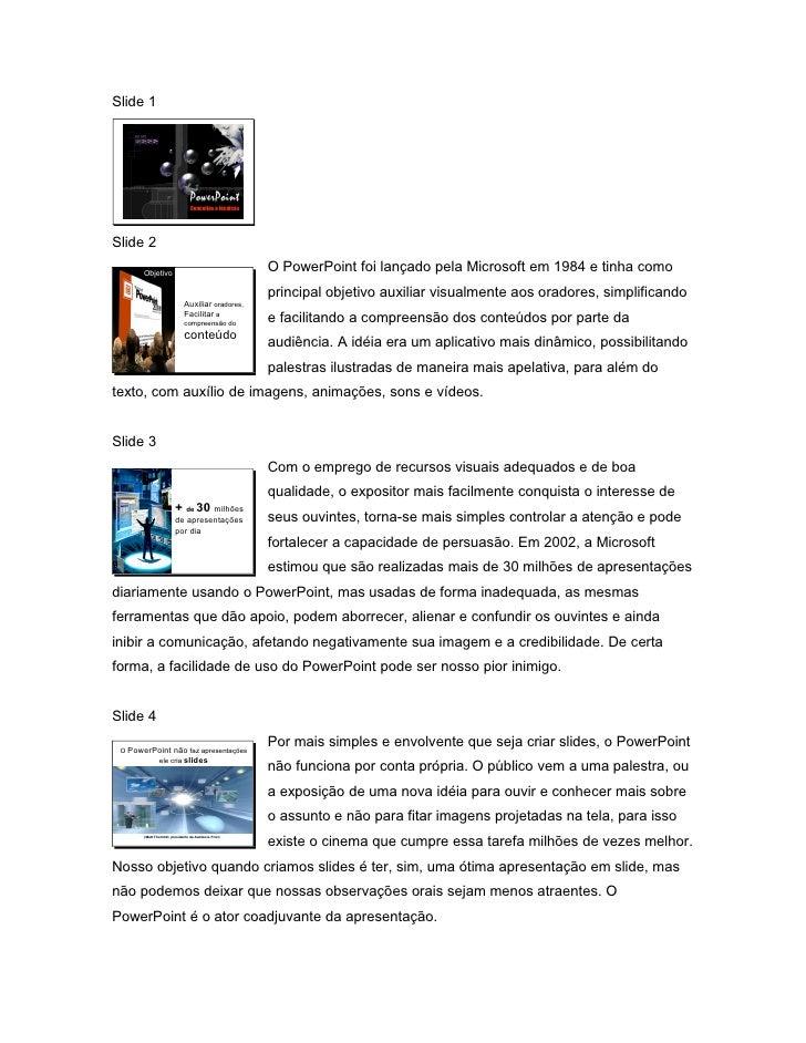 Slide 1                                       PowerPoint                                    Conceitos e técnicas     Slide...