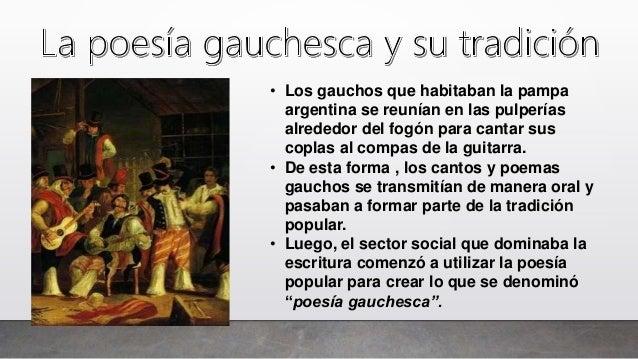 La poesía gauchesca y el Martín Fierro