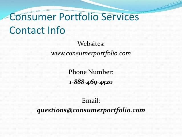 Consumer Portfolio Services Professionalism