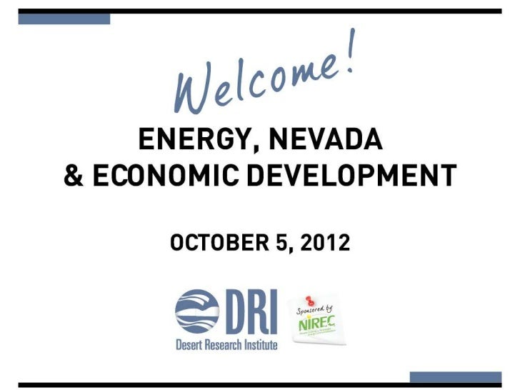 Is Energya Problem or an Opportunity        for Nevada?   Former Senator Randolph Townsend      Director, NorthStar Invest...
