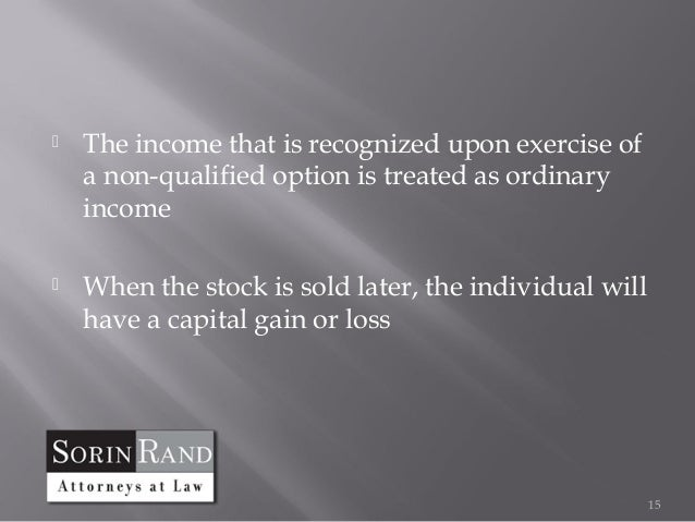 Capital gains tax on non qualified stock options