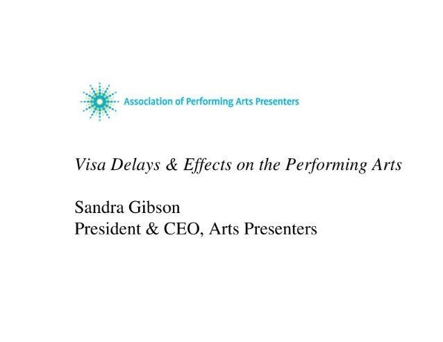 Powerpoint from Congressional Hearing on Arts Visas