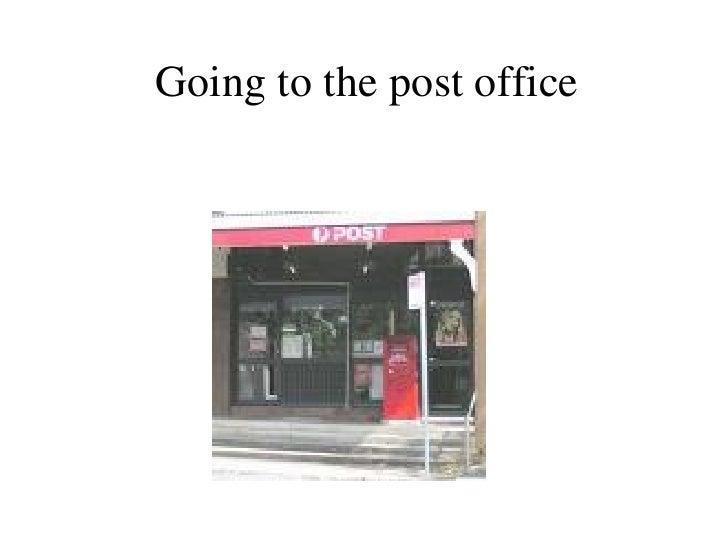 Going to the post office