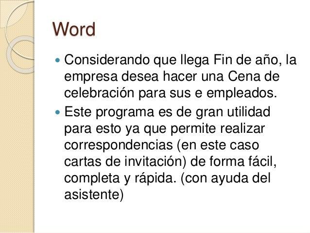 INTEGRADOR FINAL COMPUTACIÓN Programas utilizados: Word, Excel, PowerPoint, Access.  ANTONETTI, María Emilia.  Comisión ...