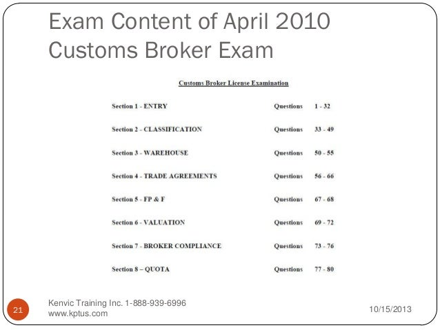 Download Customs Broker Exam Study Guide PDF