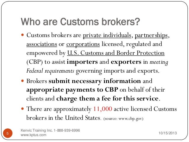 Customs Broker License Examination - Notification | U.S ...