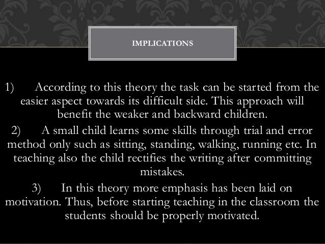 trial and error theory of learning by thorndike pdf