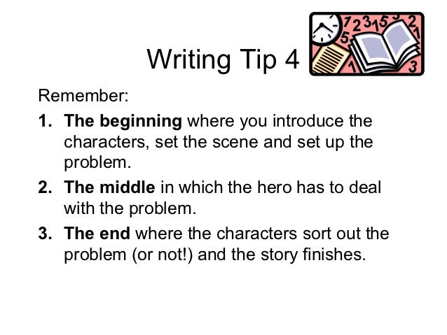 tips for narrative writing Improve your writing with our lessons, model texts and exercises at different levels choose the level that is best for you and start learning.