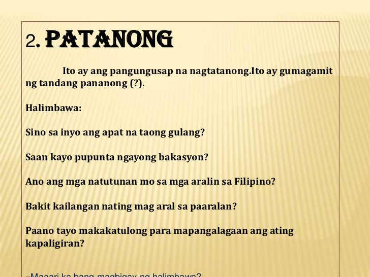 halimbawa ng pangungusap na may pag uugnay Tagalog/conjunctions page may need to be reviewed for quality  nag-uugnay ng di-magkatimbang na salita, parirala, o sugnay.