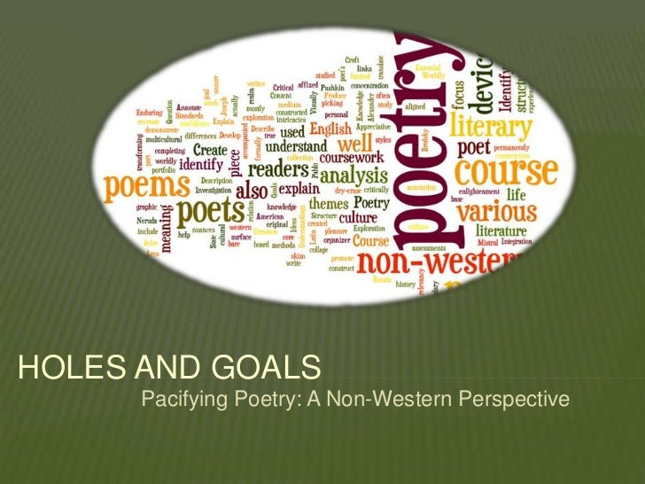 HOLES AND GOALS      Pacifying Poetry: A Non-Western Perspective