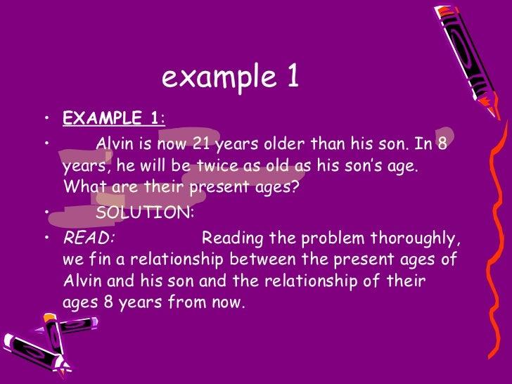 Algebra Age Problem – Age Word Problems Worksheet