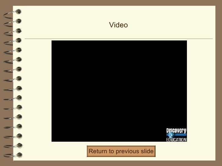 Video Return to previous slide