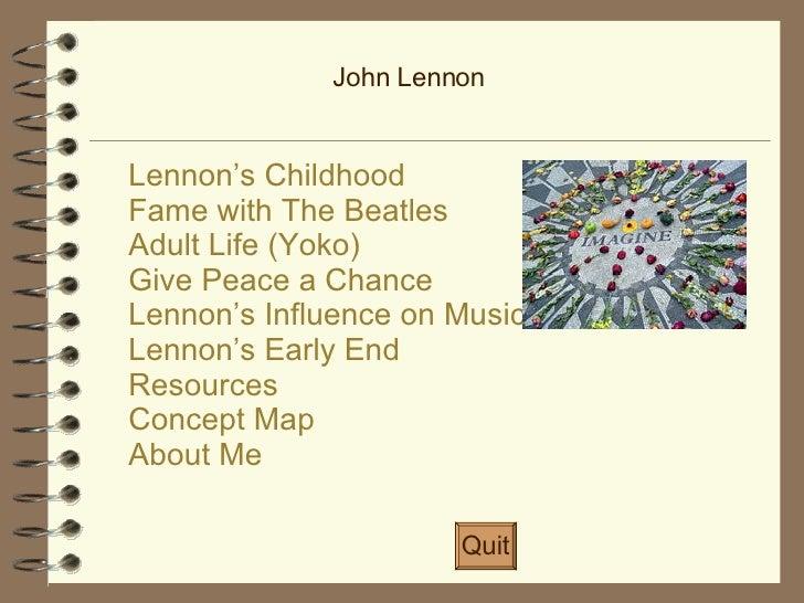 Life of John Lennon Slide 2