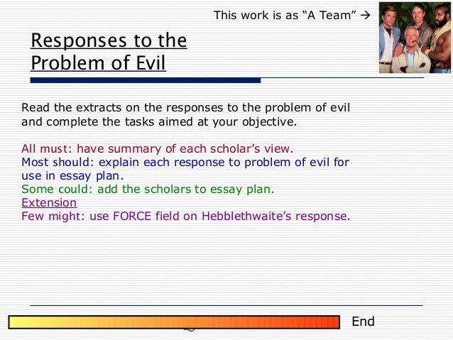 powerpoint problem of evil 15 responses to the problem of evil