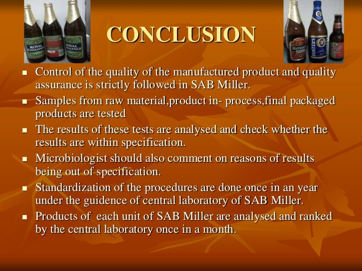 study on quality control in brewing industry I do quality control in a brewery  random studies to check whether or not the stuff we sell abides by the labeling  but cant seem to land a position in quality.