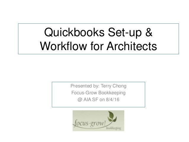 Quickbooks Set-up & Workflow for architects