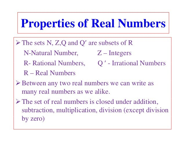 Powerpoint real numbers