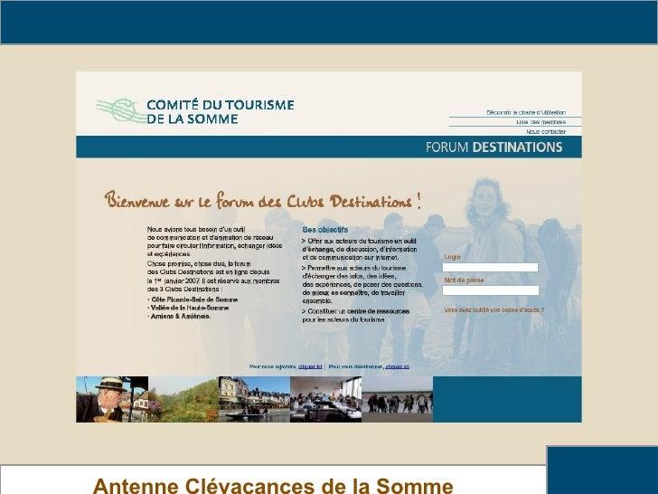 Rendez-vous sur le forum ! Antenne Clévacances de la Somme