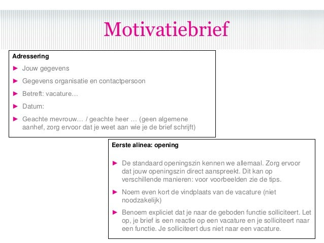 motivatiebrief kort Korte Motivatie Sollicitatie | gantinova