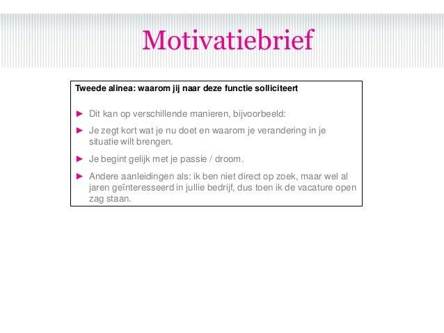 wat is motivatiebrief Sollicitatie bootcamp wat is motivatiebrief