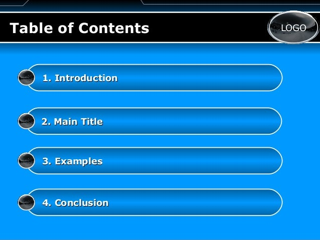 table of contents powerpoint template - Leon.escapers.co