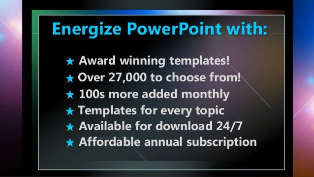 Stunning powerpoint templates 2 energize powerpoint with award winning templates toneelgroepblik Choice Image