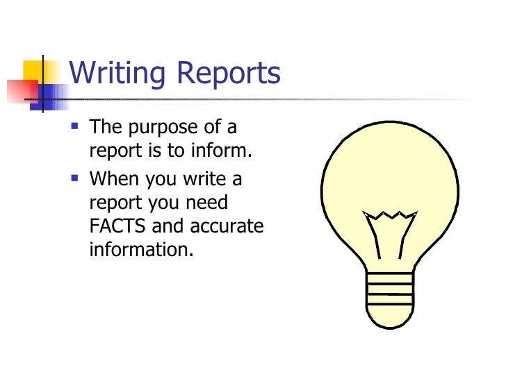 Report writing help and presentation skills