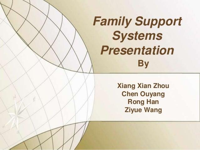 Family Support Systems Presentation By Xiang Xian Zhou Chen Ouyang Rong Han Ziyue Wang