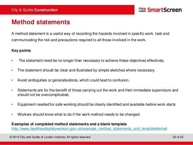 Doc930597 Example Method Statements Doc930597 Example Method – Method Statements Examples