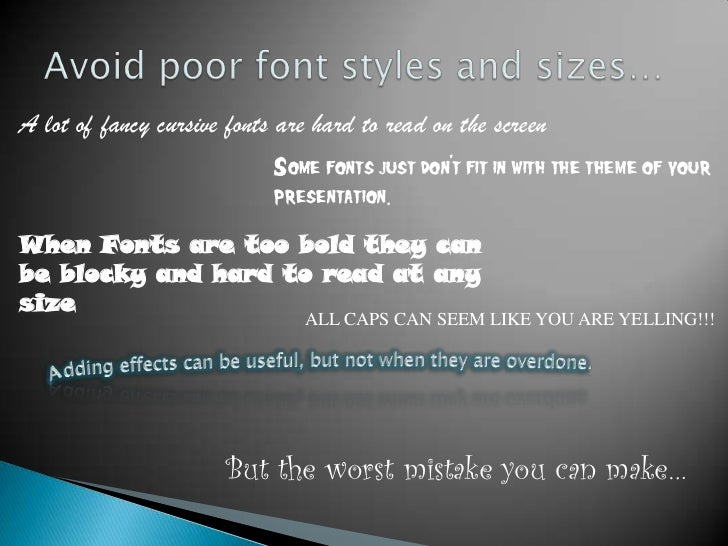 powerpoint 101 what not to do
