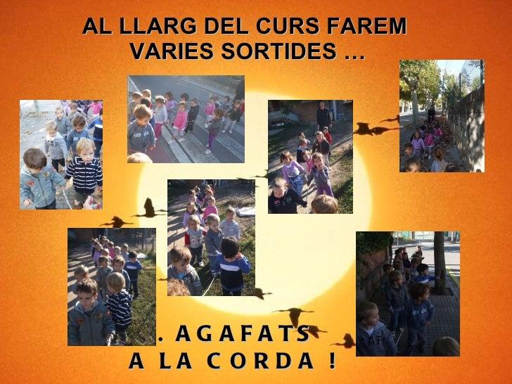 AL LLARG DEL CURS FAREM  VARIES SORTIDES … ... AGAFATS  A LA CORDA !