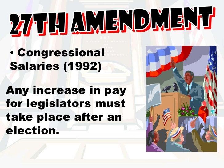 Twenty-seventh Amendment to the United States Constitution